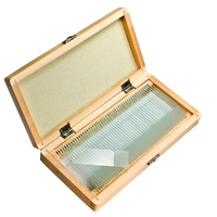 Barska 50 Prepared Microscope Slides with Wooden Case AF11564