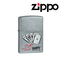 New Zippo World Poker Tour Street Chrome Lighter WPT