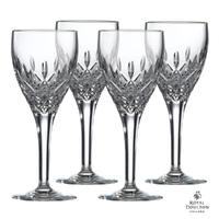 Royal Doulton Highclere Premium Crystal Wine Goblet 300ml , Set Of 4 Glasses