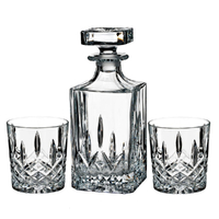 Marquis By Waterford Markham Crystalline Decanter DOF Set - Decanter + 2 Tumblers