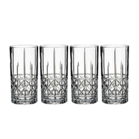 Marquis By Waterford Brady Crystalline Hi Ball Glasses 443ml , Set Of 4 Glasses