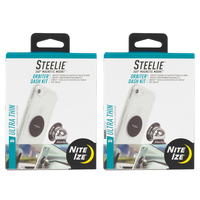 New 2 Pack Steelie Nite Ize 2 x ORBITER DASH Magnetic Phone Mount System