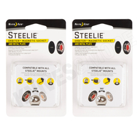 New 2 Pack Steelie Nite Ize 2 X ORBITER XNSTO01R7 Magnetic Socket & Metal Plate