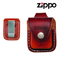 New ZIPPO Brown Leather Pouch with Clip