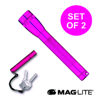MAGLITE FLASHLIGHT 2AA HOT PINK & SOLITAIRE MADE IN USA