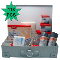 118pc Emergency FIRST AID KIT Portable or Wall Hanging Medical Travel Set Workplace Family Safety