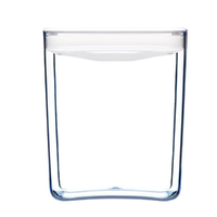 CLICKCLACK 2.8L PANTRY CUBE CONTAINER W/ LID WHITE 2800ML AIR TIGHT