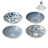 New Royal Doulton 14cm Blue Love Bowl Set of 4 , 4pc