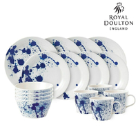 New Royal Doulton 16pc Dinner Set of 16 , Pacific Splash