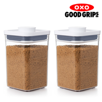 2 x OXO 1L POP 2.0 CONTAINER 1000ml AIR TIGHT SMALL SQUARE SHORT