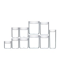 CLICKCLACK 10 PIECE PANTRY ROUND STARTER CONTAINER SET AIR TIGHT 10PC