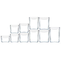 NEW CLICKCLACK 10 PIECE PANTRY STARTER CONTAINER SET AIR TIGHT 10PC