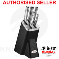 NEW GLOBAL NI 6 PIECE KITCHEN KNIFE BLOCK SET 6PC KNIVES JAPANESE 79846