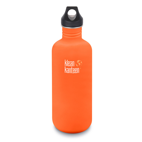 KLEAN KANTEEN 40oz 1182ml ORANGE FLAME  BPA FREE Water Bottle SAVE !