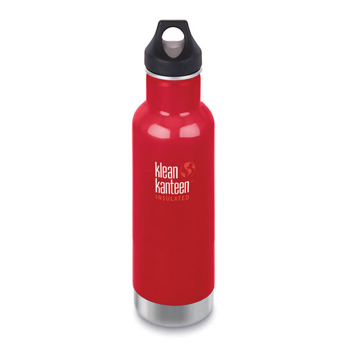 KLEAN KANTEEN CLASSIC INSULATED 20oz 592ml BEETROOT BPA FREE Water Bottle