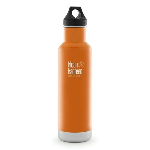 KLEAN KANTEEN CLASSIC INSULATED 20oz 592ml CANYON ORANGE BPA FREE Water Bottle