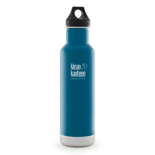 KLEAN KANTEEN CLASSIC INSULATED 20oz 592ml WINTER LAKE BPA FREE Water Bottle