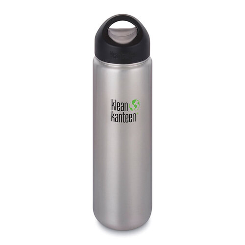 KLEAN KANTEEN WIDE MOUTH 27oz 800ml Brushed Stainless BPA FREE WATER BOTTLE SAVE