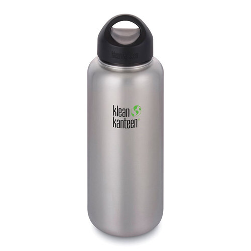 KLEAN KANTEEN WIDE MOUTH 40oz 1182ml Brushed Stainless BPA FREE WATER BOTTLE