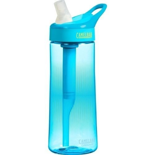 CAMELBAK GROOVE .6L 600ML BPA FREE SPILL PROOF FILTERED WATER BOTTLE- AQUA SAVE