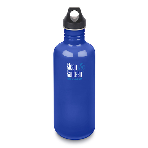 KLEAN KANTEEN 40oz 1182 Classic COASTAL WATERS BPA FREE Water Bottle SAVE !