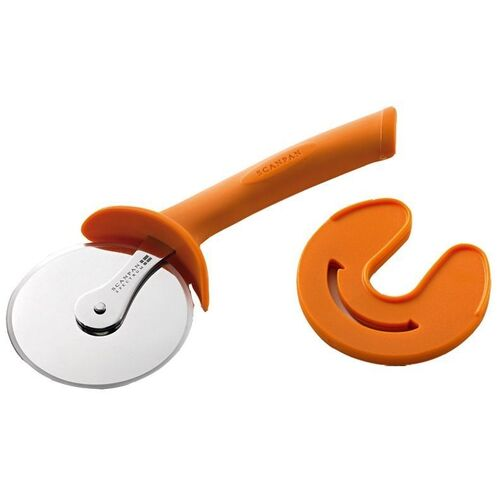 SCANPAN SPECTRUM SOFT TOUCH PIZZA CUTTER WITH SHEATH - ORANGE COLOUR BRAND NEW
