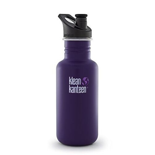 KLEAN KANTEEN THE ORIGINAL 532ml 18oz BPA FREE WATER BOTTLE - BERRY SYRUP PURPLE