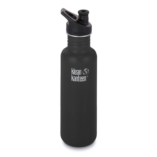 KLEAN KANTEEN THE ORIGINAL 800ml 27oz BPA FREE WATER BOTTLE - SHALE BLACK