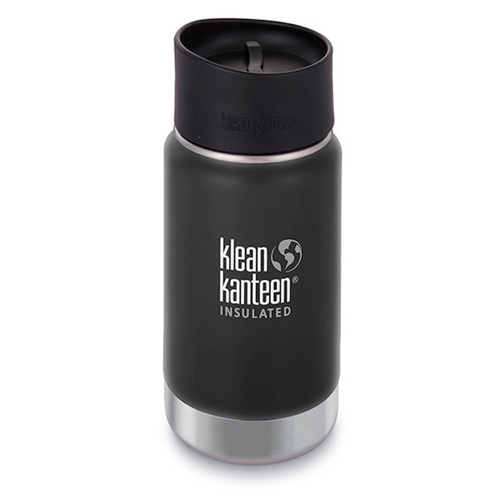 NEW KLEAN KANTEEN INSULATED WIDE 12oz 355ml SHALE BLACK Tea Coffee Water Soup
