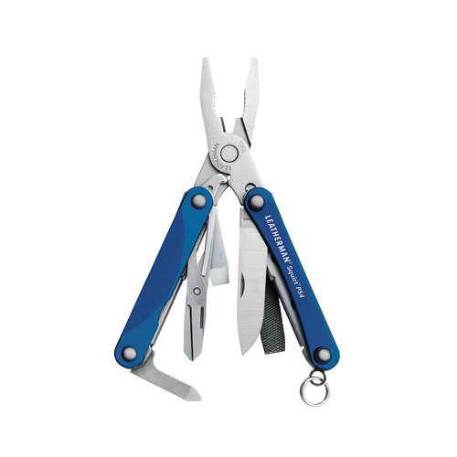 New Leatherman SQUIRT PS4 BLUE Stainless Multi Tool w/ Scissors Plier Knife