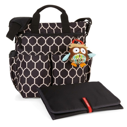 NEW SKIP HOP DUO SIGNATURE NAPPY DIAPER BABY BAG W/ CHANGING MAT - ONYX TILE SKIPHOP