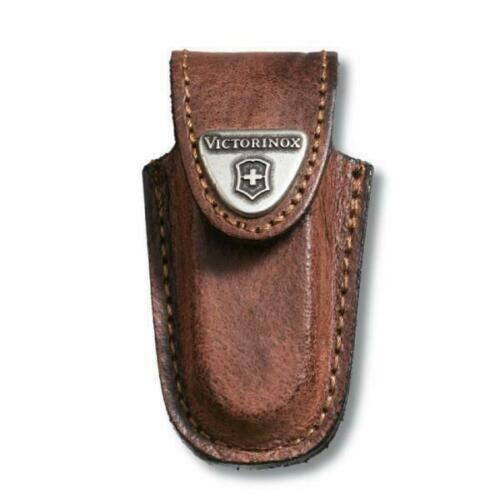 VICTORINOX SWISS ARMY KNIFE BROWN LEATHER BELT POUCH FOR CLASSIC 4.0531 SHEATH