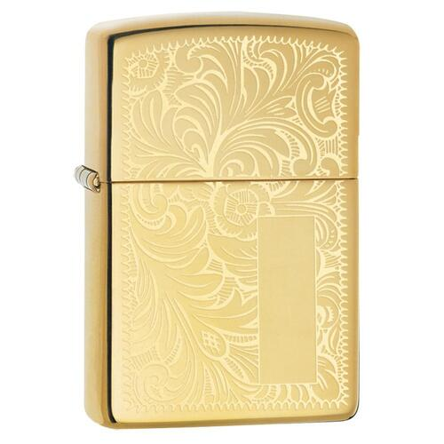 ZIPPO VENETIAN HIGH POLISH BRASS LIGHTER GIFT BOX 90353