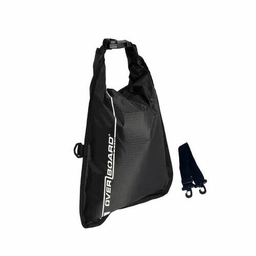 New OVERBOARD 5Litres BLACK Dry FLAT Waterproof Bag Dry Sack AOB1002BLK