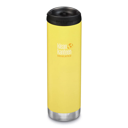 KLEAN KANTEEN TKWIDE INSULATED 20oz 592ml BUTTERCUP YELLOW W/ Cafe Cap