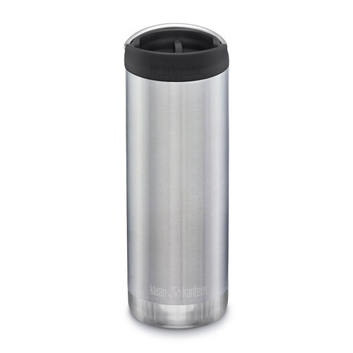 KLEAN KANTEEN TKWIDE INSULATED 16oz 473ml STAINLESS W/ Cafe Cap