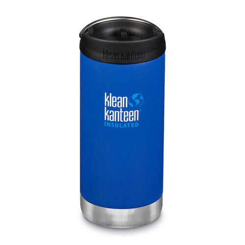 KLEAN KANTEEN TKWIDE INSULATED 12oz 355ml DEEP SURF BLUE W/ Cafe Cap
