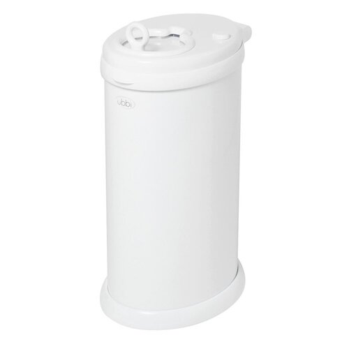 New Nappy Diaper Bin UBBI Pail WHITE Eco Friendly
