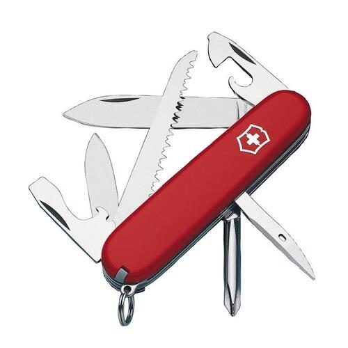Victorinox SWISS ARMY HIKER WORKER RED Pocket Knife Tool 13 Functions