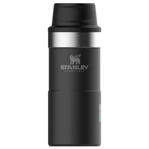 STANLEY CLASSIC Insulated 350ml 12oz BLACK Trigger Action Travel Mug