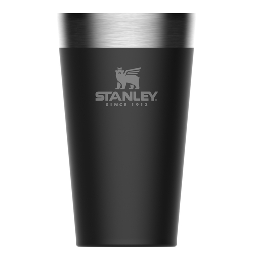 STANLEY ADVENTURE Vacuum Insulated 470ml 16oz BLACK Stacking Beer Pint