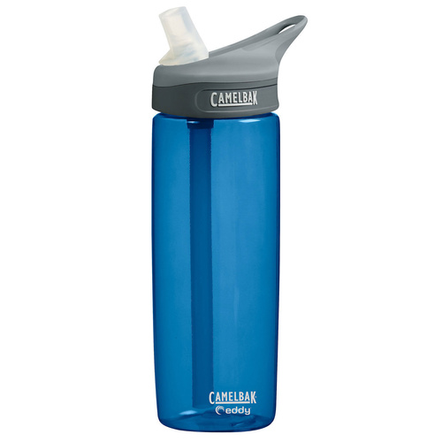 CAMELBAK EDDY .6L 600ML BPA FREE SPILL PROOF WATER BOTTLE - NAVY SAVE!
