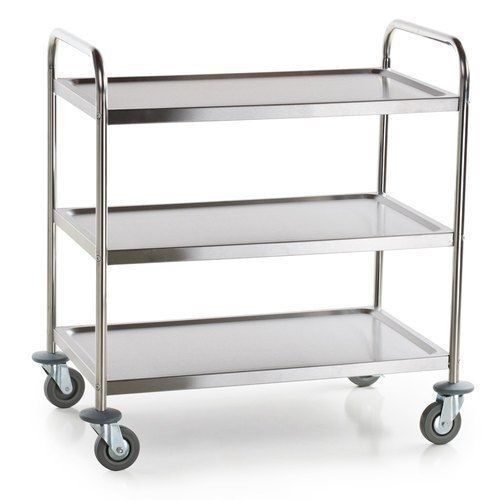 "SERVING UTLITY TROLLEY 3 SHELF STAINLESS STEEL COMMERICAL KIT ""FREE POSTAGE"" 546"