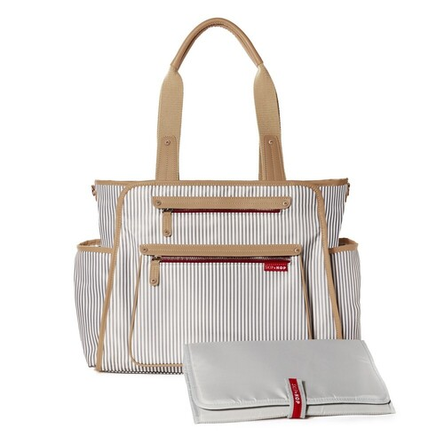 SKIP HOP GRAND CENTRAL TAKE IT ALL NAPPY DIAPER BAG CHANGING MAT FRENCH STRIPE