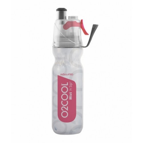 NEW 02 Cool Mist 'N Sip 18oz 530ml Arctic Squeeze Water Drink Bottle RED 02COOL O2COOL