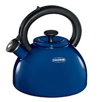 NEW CHASSEUR ENAMELLED DOMUS WHISTLING KETTLE 2.5L SUITS ALL COOK TOPS - BLUE
